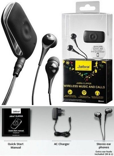 0887eb143ae Jabra Clipper Stereo Music Multipoint Wireless Bluetooth Headset ...