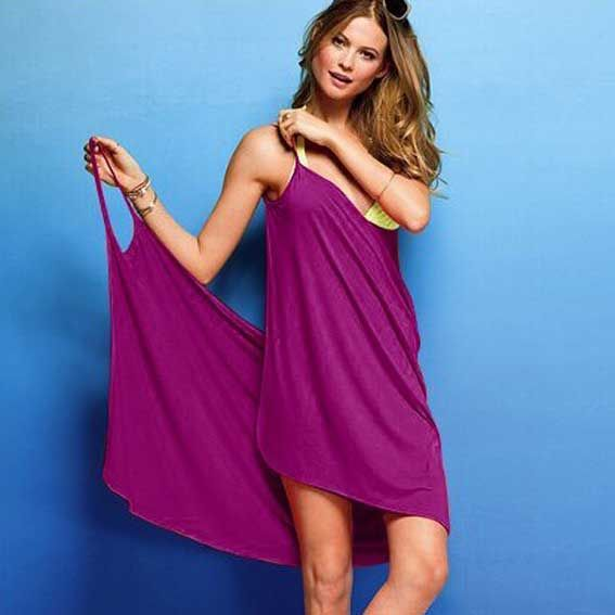 cadcae3372 Silk Beach Dress Swimwear Cover-ups Bikini Coat Wear