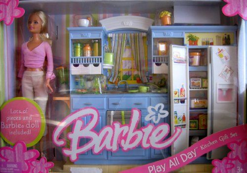 Barbie Play All Day Kitchen Gift Set W Barbie Doll 2005 Ksa Souq
