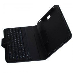 Leather Case Cover With Bluetooth Keyboard For The Samsung Galaxy Note 8 N5100 - Black