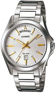 09452eef9 Casio Classic Watch for Men - Analog Stainless Steel Band - MTP-1370D-7A2V
