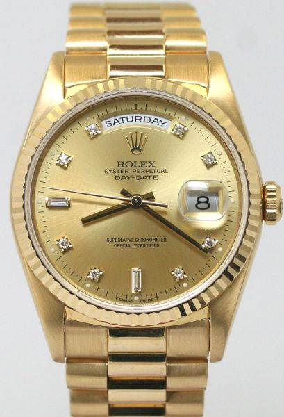 602b0a8ae Rolex Day-Date Yellow Gold with Diamond Marker Watch