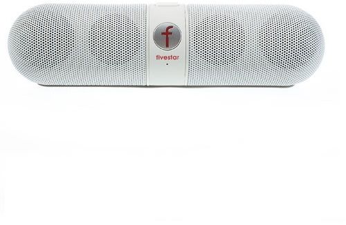 Fivestar F-808 Pill Design Multi-function Hi-Fi Bluetooth Speaker with MIC  Support TF Card FM Hands-free [White]