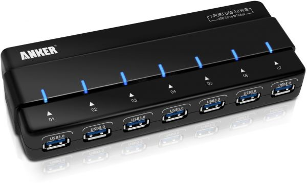 Anker Usb 3 0 7 Port Hub With 36w Power Adapter 12v 3a High