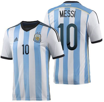 MESSI  10 Argentina FIFA World Cup 2014 Jersey  28c9664ef