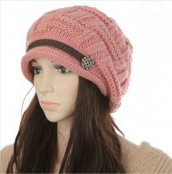 Headwear Women Warm Rageared Baggy Winter Beanie Chunky Knit Crochet ... 22ce78643