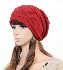 bb549c7f253 FOLDING CAP WINTER HAT FASHIONABLE MEN AND WOMEN KNITTING WOOL CAP HT-0008  RED