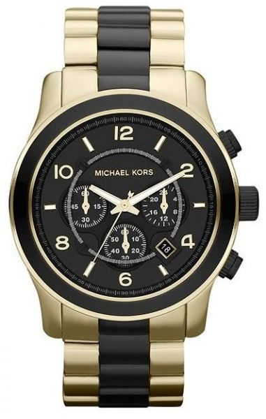 12580d53418d Michael Kors Runway Watch for Men - Analog Stainless Steel Band ...