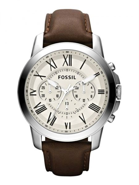 Fossil Grant Watch For Men Analog Leather Band Fs4735, Quartz