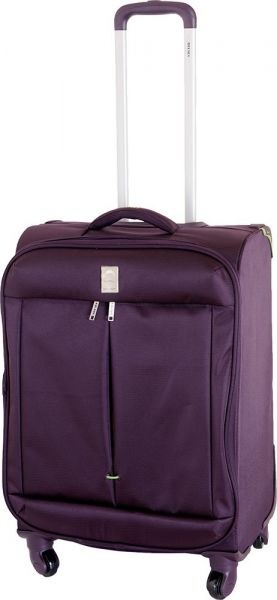 a5a7ce18d Delsey Flight 55 cm Purple 4 Wheels Cabin Luggage Trolley Case ...