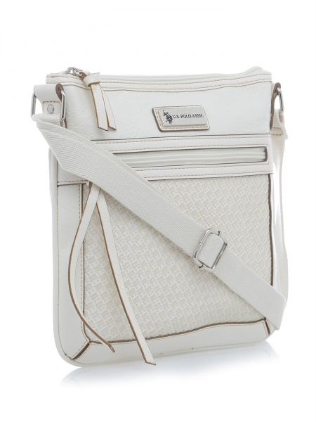 U.S. Polo Assn. Women s Saratoga Woven Vinyl Crossbody Bag  UP30637 ... 5ce97435ad62e