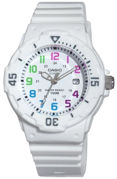 ed7149e72ba9d ساعة كاسيو نسائية Casio Women s Core LRW200H-7BV White Resin Quartz Watch  with White Dial