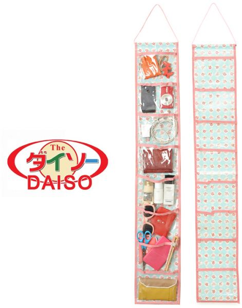 Daiso 3 Pieces Set Small Items See Though Hanging Organizer Souq Uae