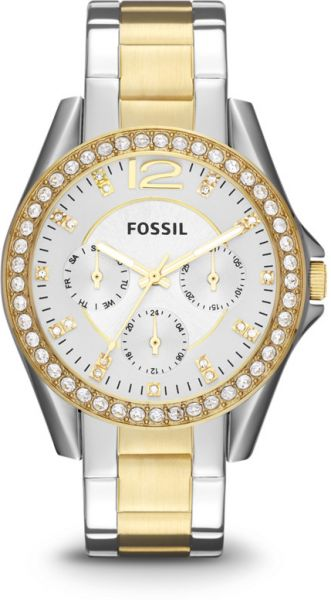 f377ae7ec57 Fossil Women s Silver Dial Stainless Steel Band Riley Watch  ES3204 . by  Fossil