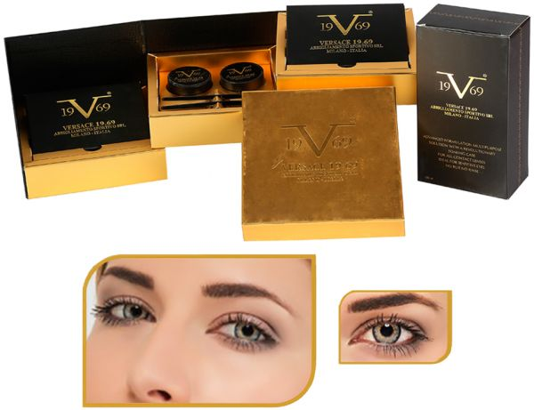 76018507084d VERSACE 19.69 HVC311 Elegance Grey Monthly Colored Cosmetic Contact ...
