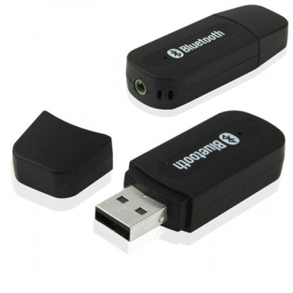 30b24473a9ff4 USB Bluetooth Audio Receiver 3.5mm Music Adapter Dongle Speakers With Mic