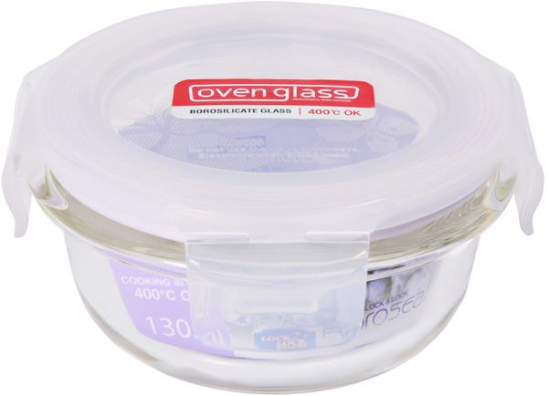 Lock Lock Glass Round Container 130 ml LLG812