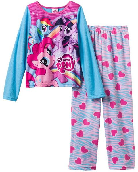 a6c6244c18 My Little Pony Girls 2-piece Fleece Pajamas From Macys Size 4t ...