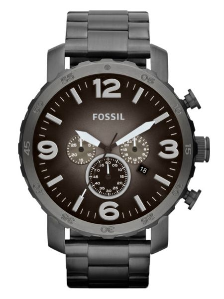 09d287ca221 Fossil Nate Watch for Men - Analog Stainless Steel Band - JR1437 ...