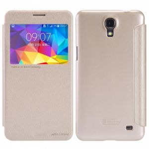 Nillkin Samsung Galaxy Mega 2 G750F G7508 Sparkle Leather Case Cover With Screen Protector - Gold