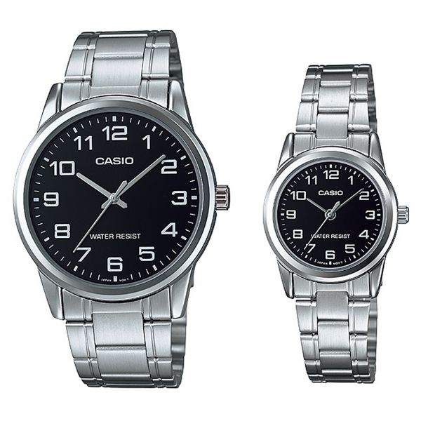 754b212f7d55 Casio His   Hers Analog MTP LTP-V001D-1BUDF Stainless Steel Watch ...