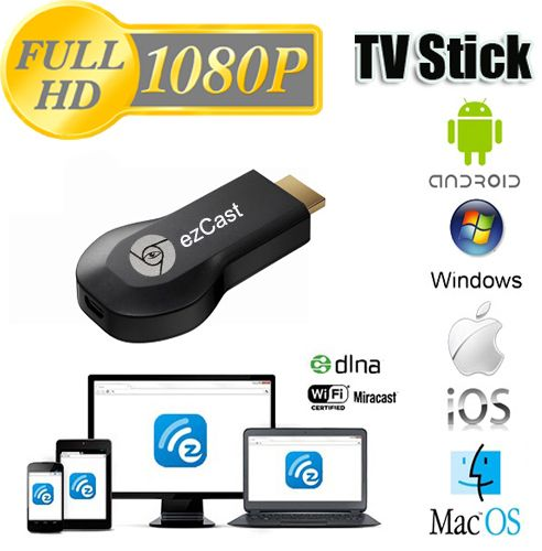 Ez Cast(M2) Tv Stick Hdmi 1080P Miracast Dlna Wifi Display Receiver Dongle  For Windows Ios Andriod