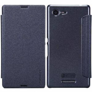 Nillkin SONY XPERIA E3 Sparkle Series Flip Leather Case Cover With Screen Protector - Black