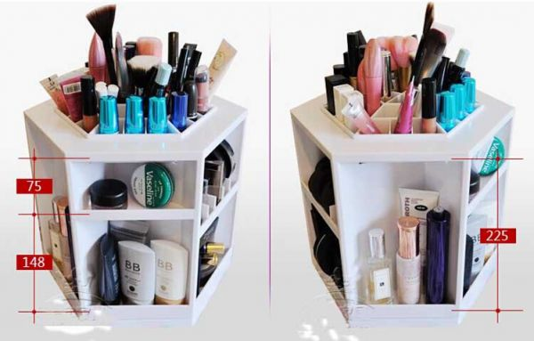 Spin 360 Make Up Organizer Cosmetic Storage Box- White : beauty storage boxes  - Aquiesqueretaro.Com