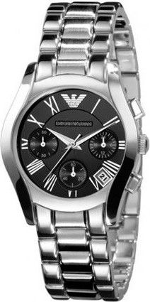 b169035ee Emporio Armani Women's Silver Dial Stainless Steel Band Watch [AR0674]