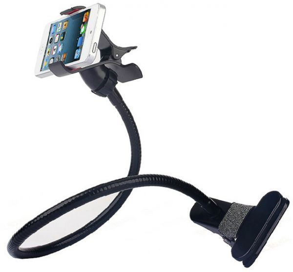 great fit 8b476 dd4d1 Flexible Car Holder Desktop Bed Lazy Bracket Mobile Stand For iphone 4 5S  iPhone 6/iPhone 6S Samsung---black