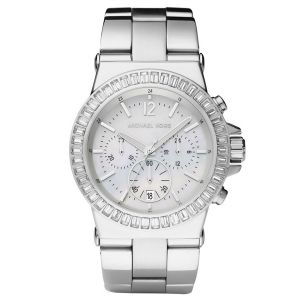 f851dcdd6c19 Michael Kors For Women Silver Dial Stainless Steel Band Chronograph Watch -  MK5411
