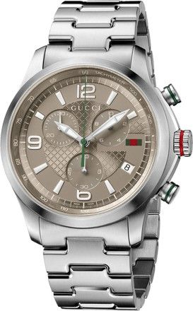 90322e36bd5 Gucci G-Timeless Men s Brown Dial Stainless Steel Band Watch ...