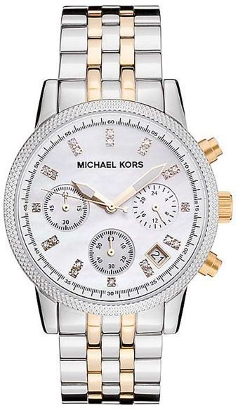 c07b32dd0 Michael Kors Two Tone Watch for Women - Analog Stainless Steel Band ...