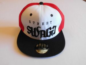SWAGG Hip Hop Cap Snapback Cap Color White With Red and Black 061b94fb6dcd