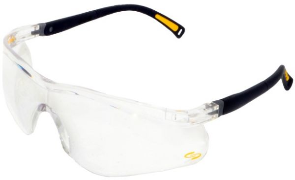 fd5e1c0757d Canasafe Black Frame Cracker Clear Lens Safety Glasses