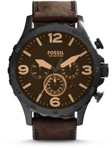 76fe9d6c11d Fossil Nate Watch for Men - Analog Leather Band - JR1487