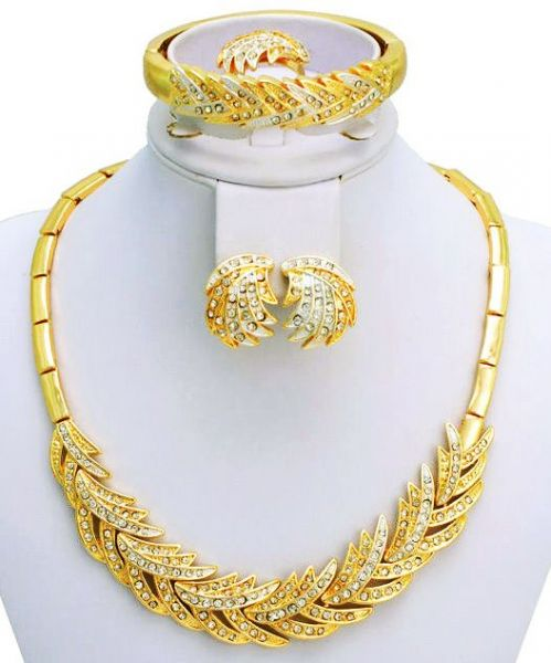 18k Gold Plated Italian Design Jewelry Set 2 Pieces Souq Uae