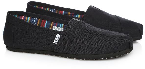 buy popular b1257 e43ee Toms 10002931 Canvas Classics Slip Ons Shoes for Men - 42 EU, Black