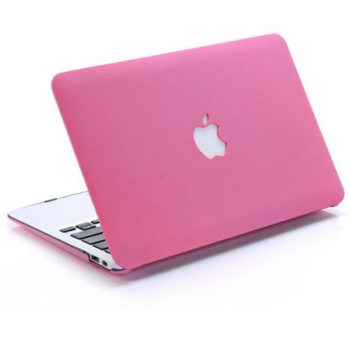 Frosted Matte Rubberized Laptop Hard Case Cover For Apple Macbook Pro 13 Inch - Hot Pink