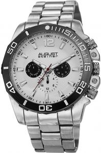 ad78830fb August Steiner Men's White Dial Stainless Steel Band Watch - AS8113SS