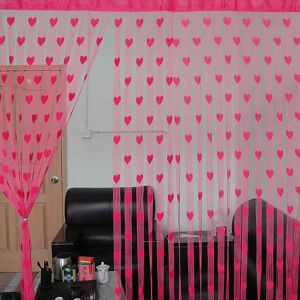Heart Line Tassel String Door Curtain Window Room Divider Curtain