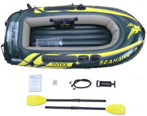 17043d0d9407d Intex Seahawk 2 Fishing Boat Set with Oars - 68347