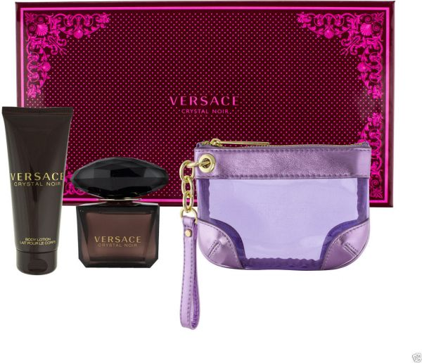 Versace Crystal Noir Gift Set For Women Edp 90ml Body Lotion 100ml