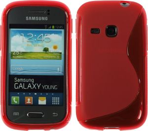 Calans Samsung Galaxy Young S6310 S Body Tpu Case Cover - Red