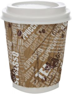 Hotpack Disposable Corrugated Paper Cup With Lid 50 Piece