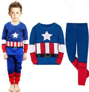 95b35fcd121a3 Captain America Cartoon Baby Boys And Girls Sets Children Kids Summer  Pajamas Child Clothes