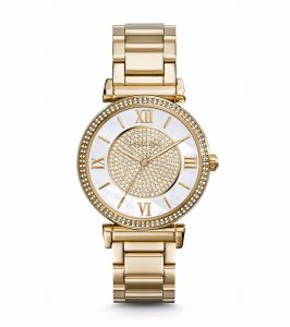 d0bb671402ec1 Michael Kors Catlin Watch for Women - Analog Stainless Steel Band - MK3332