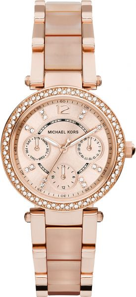 730938faf Michael Kors Parker Watch for Women - Analog Stainless Steel Band ...