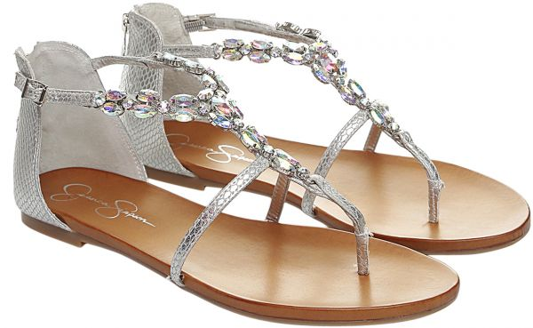 0980cd38120684 Jessica Simpson Silver Thong Sandal For Women
