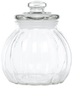 Claro Round Glass Jar with Lid .75 liter, Clear